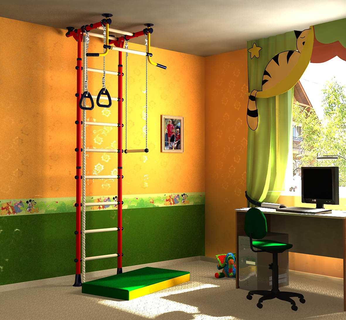 Как в комнате сделать спортивный уголок
