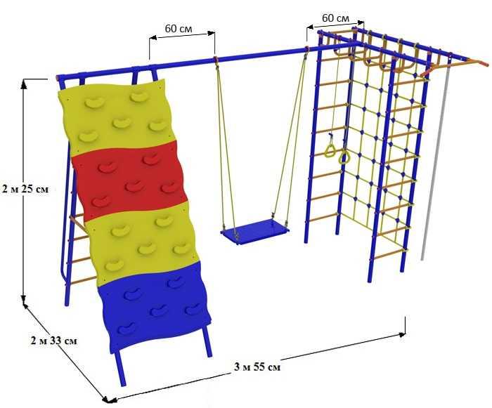 ДСК для дачи Веселый Непоседа №7 со скалодромом детский спортивный комплекс