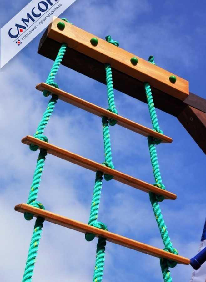 Веревочная лестница своим руками
