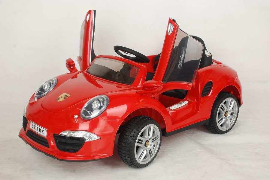 детский электромобиль с пультом porsche 911 розовый
