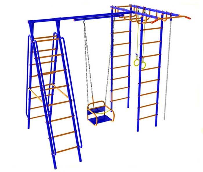 ДСК для дачи Веселый Непоседа №6 с качелями на подшипниках детские игровые площадки