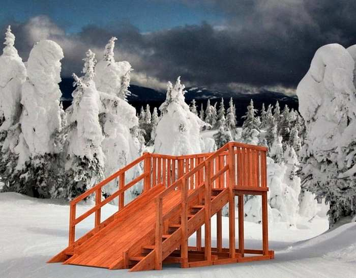 Зимняя горка Самсон Гренландия