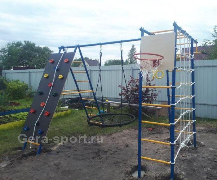 Детский спортивный комплекс ГОРОДОК дачный 10 ПЛЮС (качели- гнездо 100 см)
