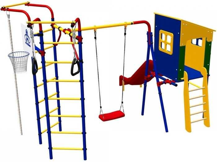Детский игровой комплекс для дачи Карусель 3.3.14.22 Космодром-14 с домиком