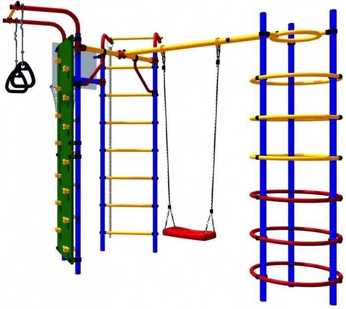 ДСК Карусель 3.3.15.21 Скалодром-15 детский спортивный комплекс для дачи