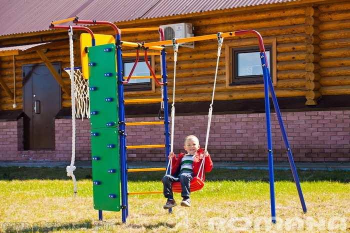 ДСК для дачи Карусель Скалодром-14 детский игровой комплекс для улицы