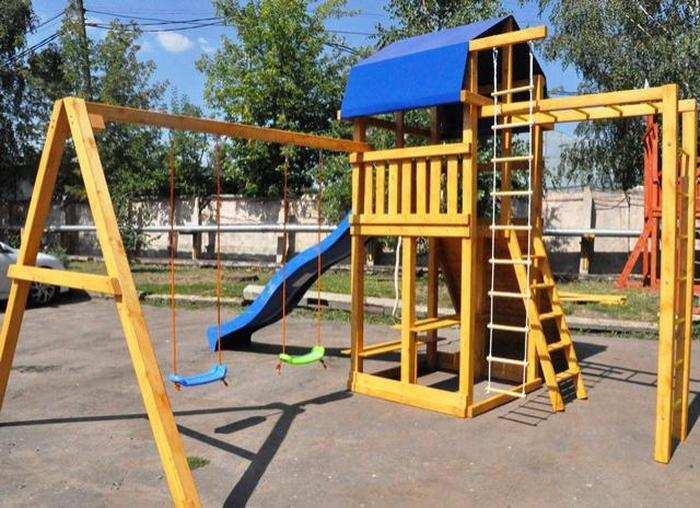 Мадрид-33 детские площадки из дерева