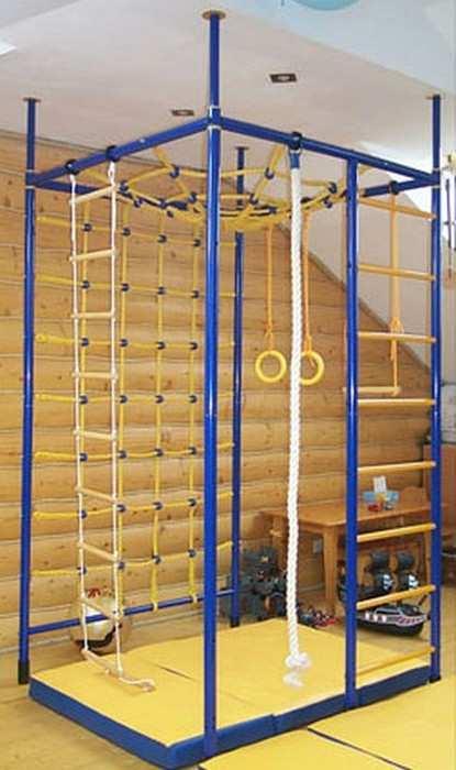 ДСК Веселый Непоседа 5-ти опорный спортивный комплекс для дома с широкой сеткой