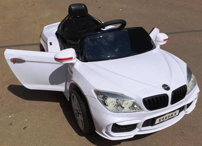 BMW E 666 KX Электромобиль для детей на резиновых колесах с пультом