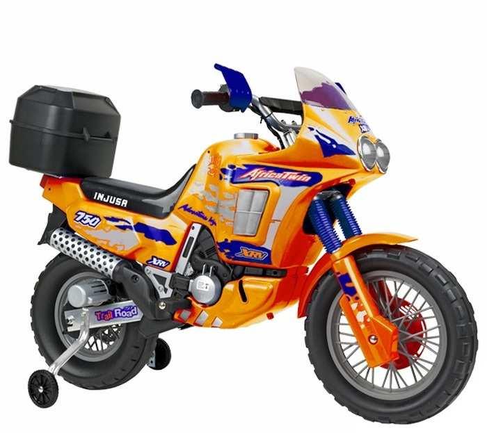 Детский мотоцикл на аккумуляторе INJUSA Moto AFRICA Twin 6821