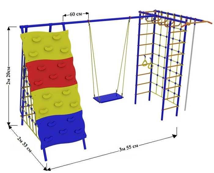 ДСК для дачи Веселый Непоседа №9 со скалодромом детские игровые площадки