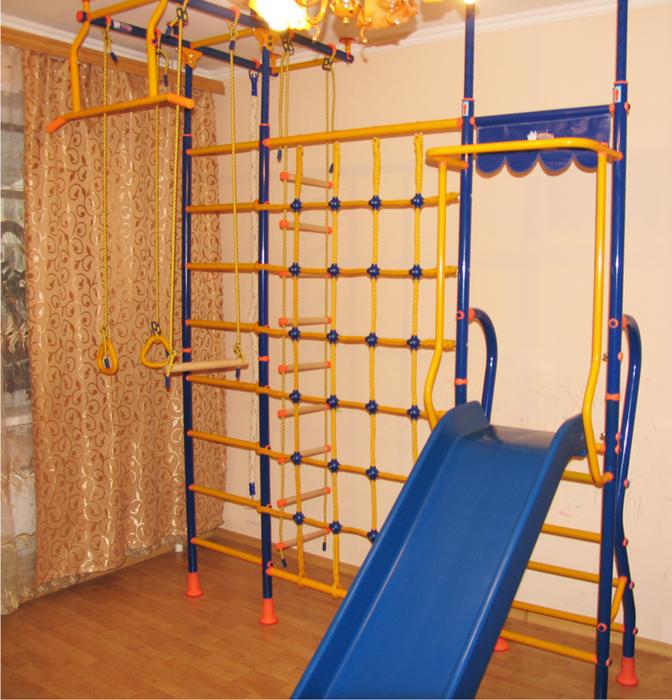 ДСК Весёлый Непоседа №10 детский спортивный комплекс с горкой и сеткой для лазания ПЛЮС