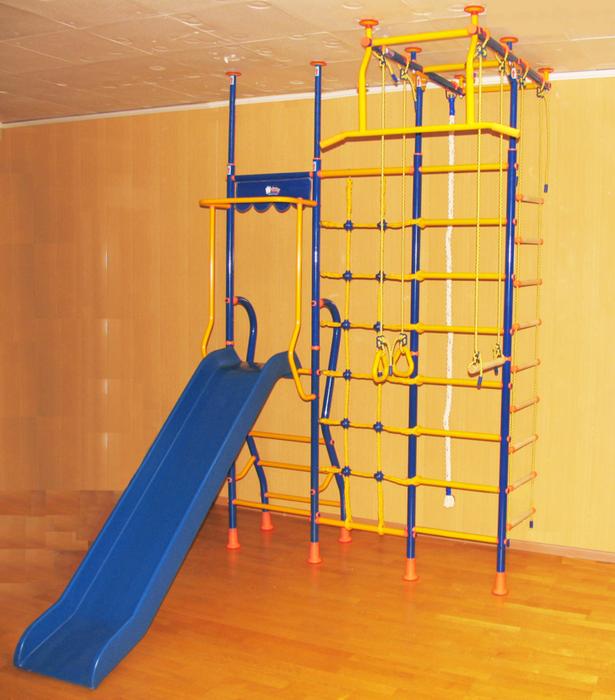 ДСК Весёлый Непоседа №10 домашний спортивный комплекс с горкой и сеткой для лазания