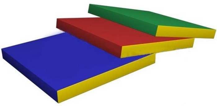 Гимнастический мат спортивный №2 (дшв) 100×100×10 см