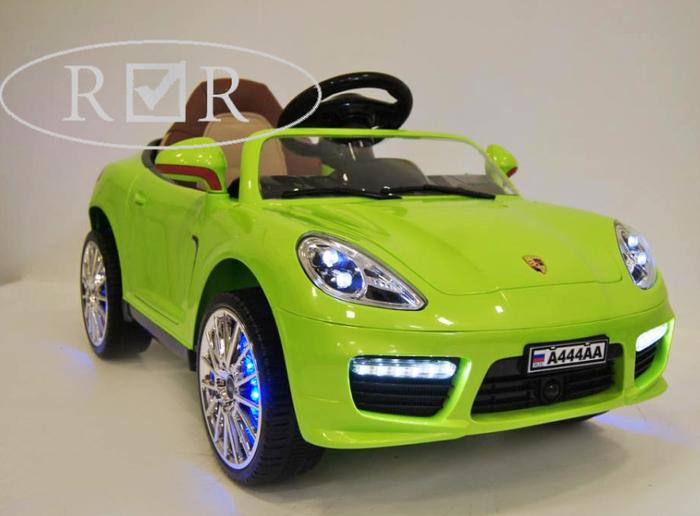 Porsche Panamera А 444 АА детский электромобиль с кожаным сиденьем