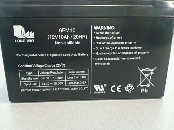 Аккумулятор для электромобиля 12V10Ah (ампер в час)