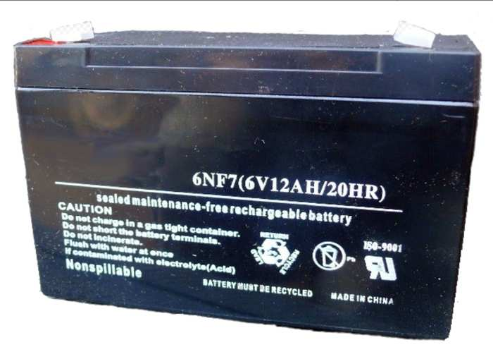 Аккумулятор для электромобиля 6V12Ah (ампер в час)