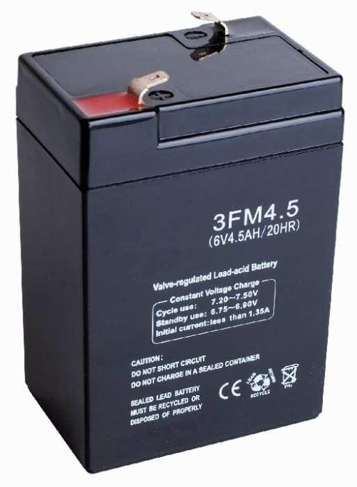 Аккумулятор для электромобиля 6V 4,5Ah (ампер в час)