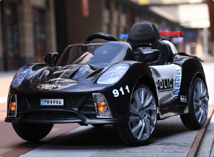 Детский автомобиль Porsche 911 Police Б005OС на резиновых колесах