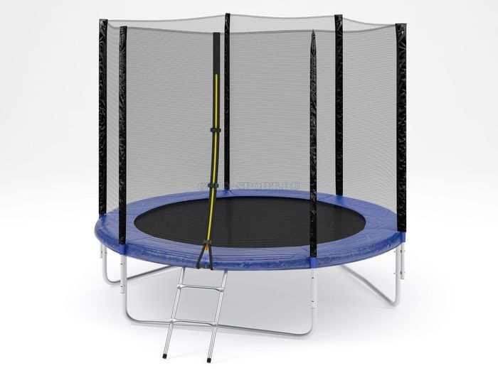 Trampoline №8 диаметр 240 см батут детский с защитной сеткой