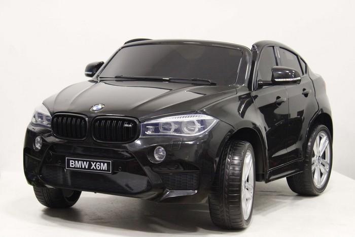 Двухместный детский электромобиль BMW X6 M JJ2168 с кожаным сиденьем