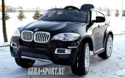 Детский электромобиль на резиновых колесах BMW-X6 (ЛИЦЕНЗИОННАЯ МОДЕЛЬ) с дистанционным управлением