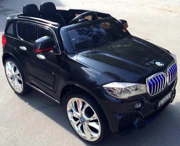 Детский электромобиль джип BMW Х5 E 001 КХ на резиновых колесах
