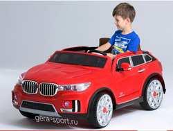 Детский двухместный электромобиль BMW M 333 MM на резиновых колесах