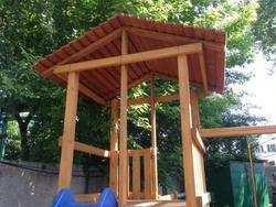 Деревянная крыша к детской площадке Самсон Мадрид