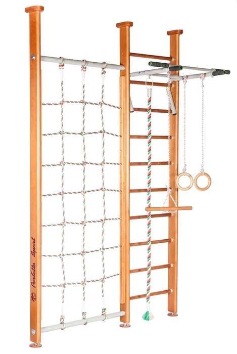 ДСК Perfetto sport Sempre PS-105 с сеткой детский спортивный комплекс деревянный в квартиру