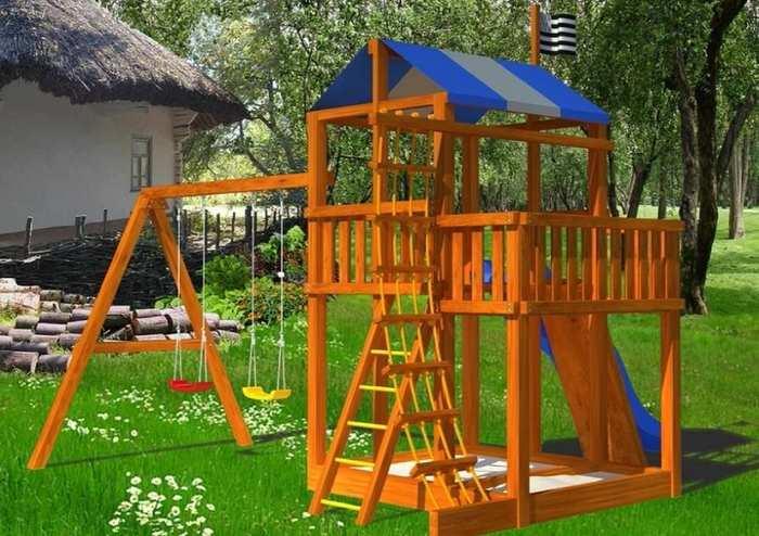 Детские игровые деревянные площадки Самсон Бретань