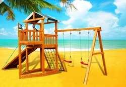 Детские площадки  из дерева Баунти