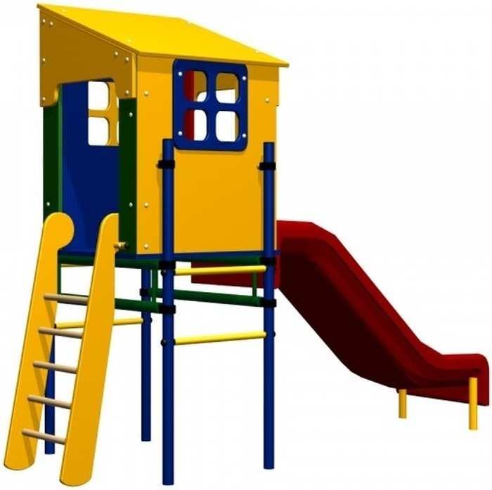 ДСК Карусель Домик с горкой детский спортивный комплекс для дачи