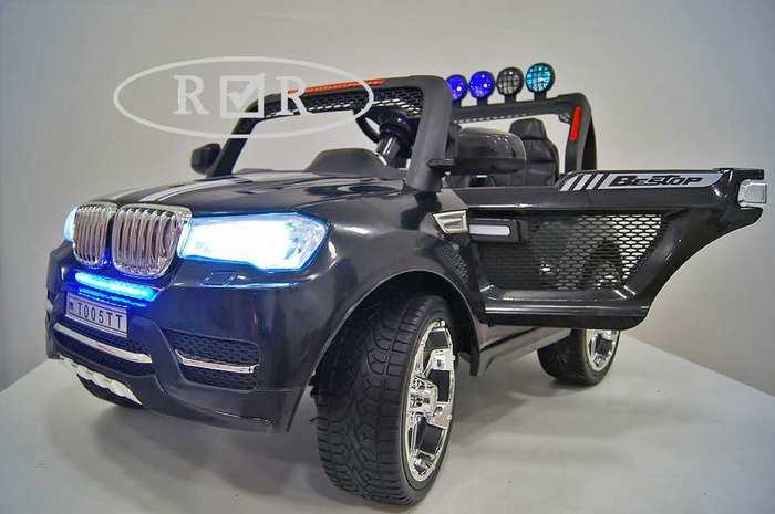 BMW T 005 TT двухместный ПОЛНЫЙ ПРИВОД 4Х4 детский электромобиль джип 24V с дистанционным управлением