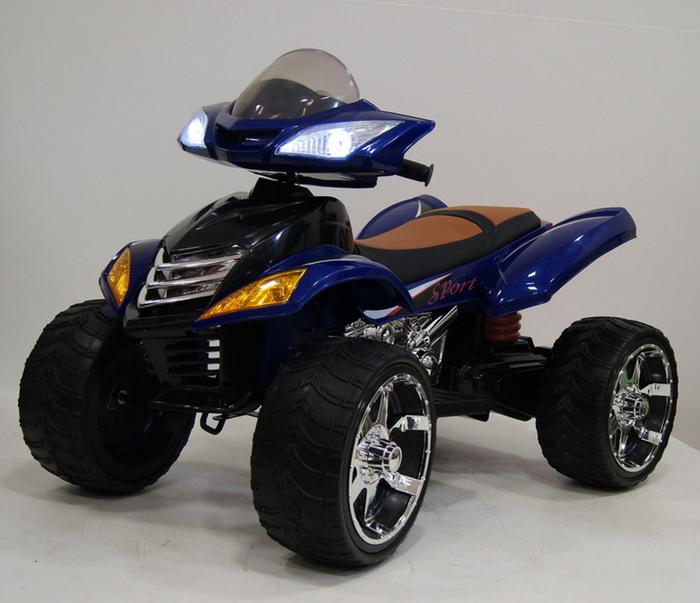 Е 005 КХ квадроцикл для детей с кожаным сиденьем, колеса резиновые