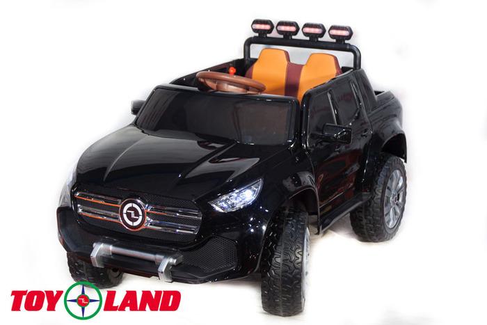 Детский полноприводный электромобиль Mercedes-Benz PICKUP 4х4 на резиновых колесах