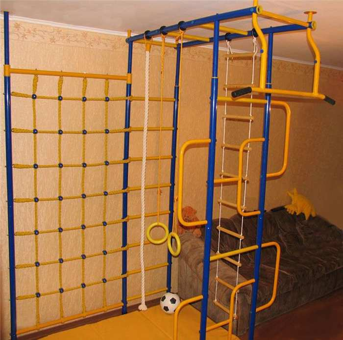 ДСК Веселый Непоседа Модель №16 детский спортивный комплекс для дома с сеткой