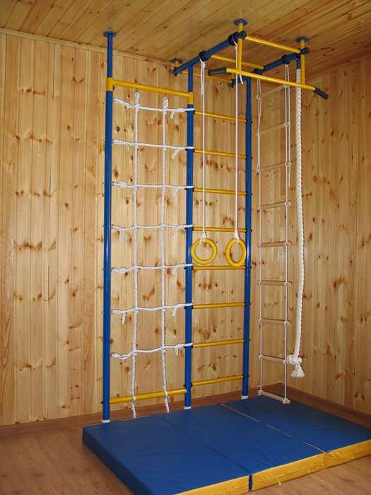 ДСК Городок Г-образный с сеткой детский спортивный комплекс