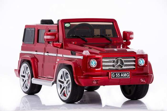 Детский электромобиль джип Гелендваген Mercedes Benz G55 amg с открывающимися дверями