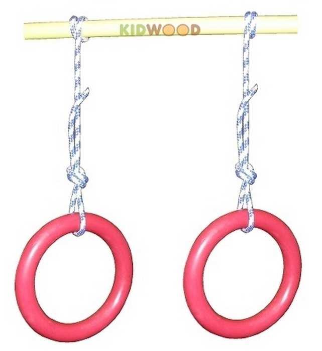 Кольца гимнастические пластиковые KIDWOOD