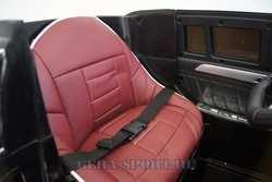 Детский электромобиль джип Мерседес GL 63 AMG с кожаным сиденьем на резиновых колесах