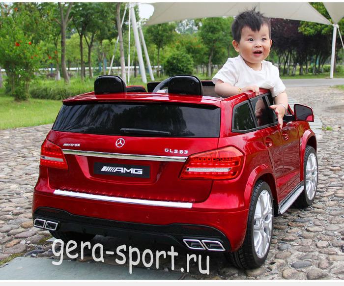 Двухместный детский автомобиль полный привод MERCEDES-BENZ GLS63 4WD с дистанционным управлением
