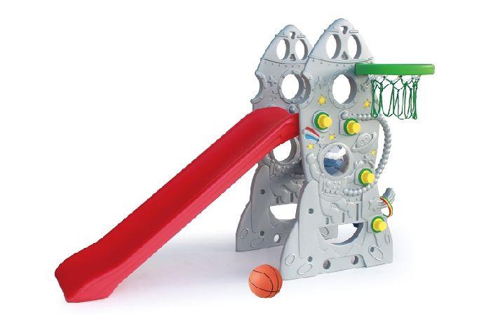Детская горка Ching-Ching SL-18 Ракета + баскетбольное кольцо