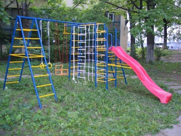 ДСК Городок Дачный с горкой спортивный комплекс для дачи