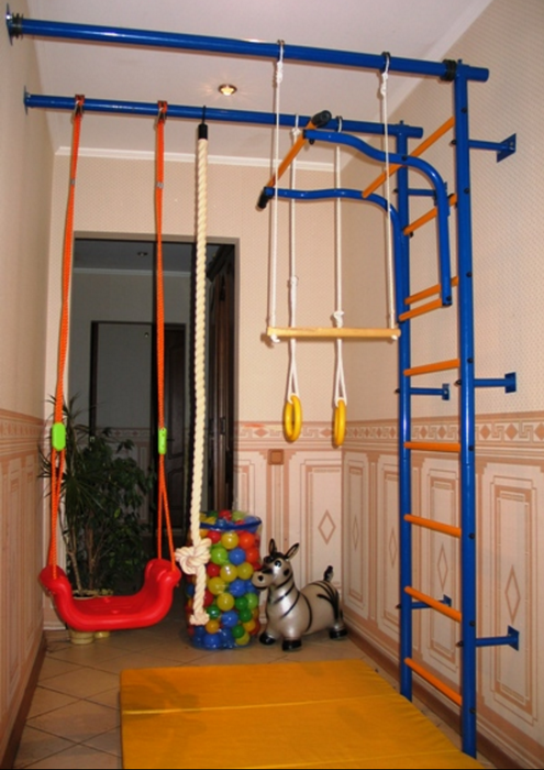 ДСК Городок Г-образный с креплением к стене детский спортивный комплекс