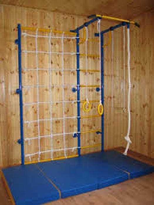ДСК Городок Пристенный с сеткой 1 метр домашний детский спортивный комплекс