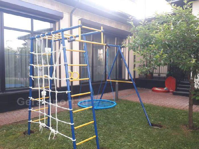 Детский спортивный комплекс ГОРОДОК дачный П-образный ПЛЮС (качели- гнездо 100 см)