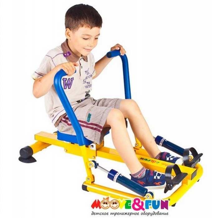 Тренажер детский механический Гребля. Детский гребной тренажер Moove Fun TFK-04/SH-04