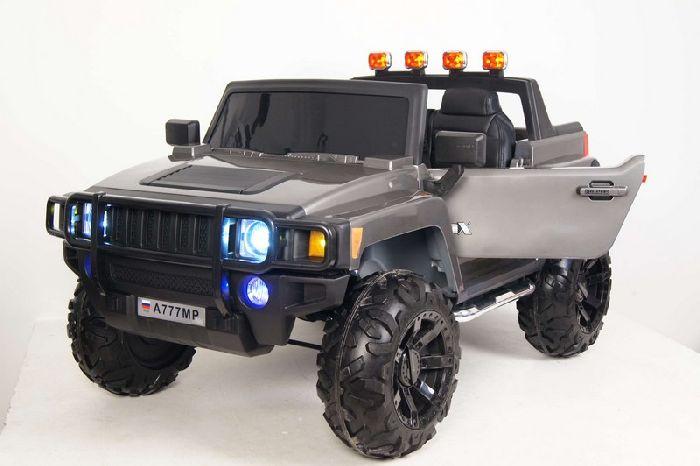 Hummer A777MP детский двухместный электромобиль джип на резиновых колесах