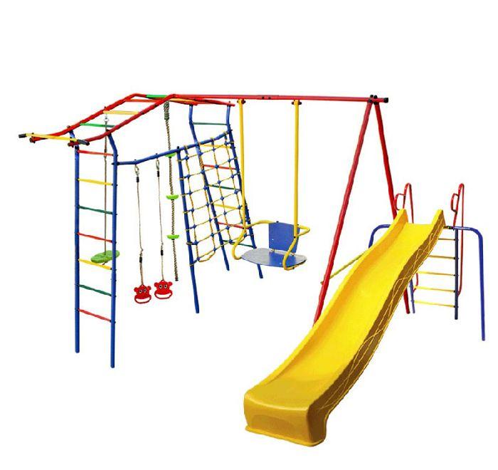 Детский спортивный комплекс Игромания-1 Скалолаз дачный с горкой КМС-421